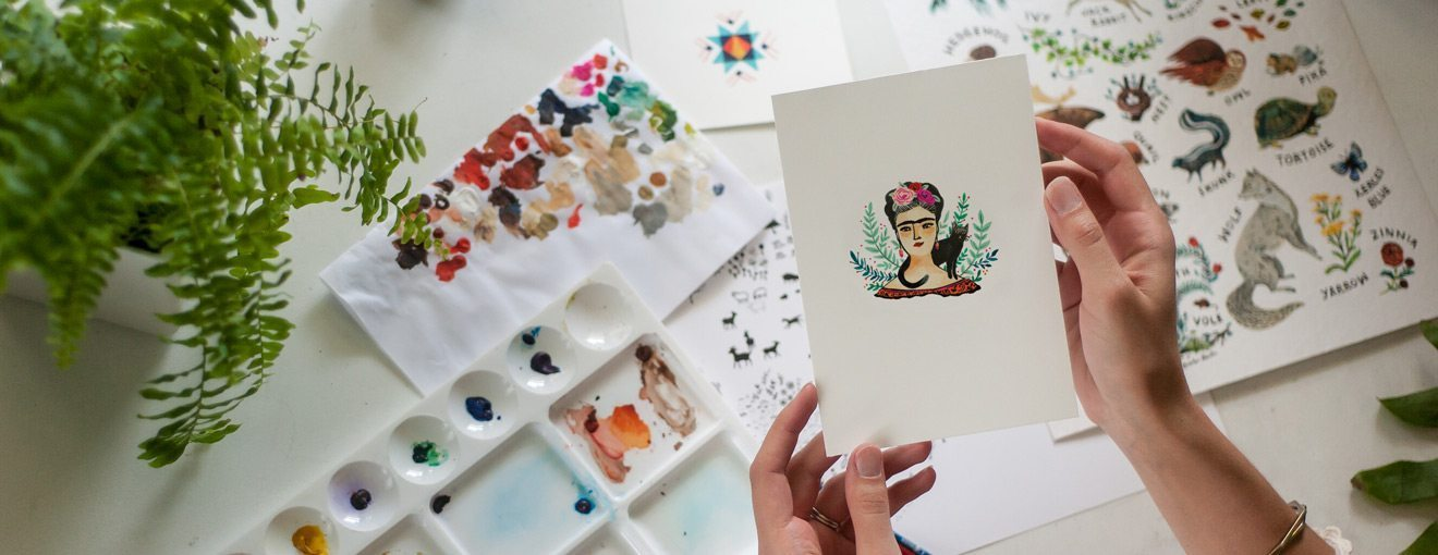 handmade illustrated goods and art prints
