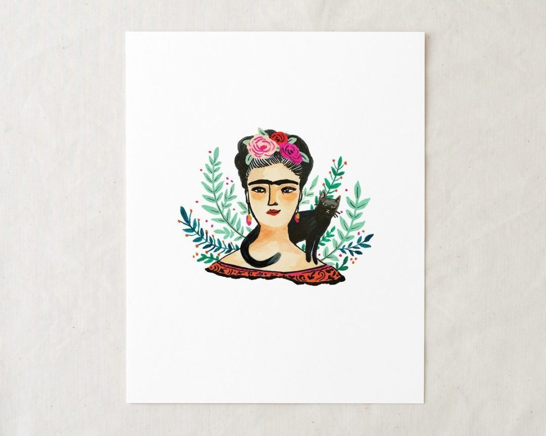 8x10 frida kahlo art print illustration