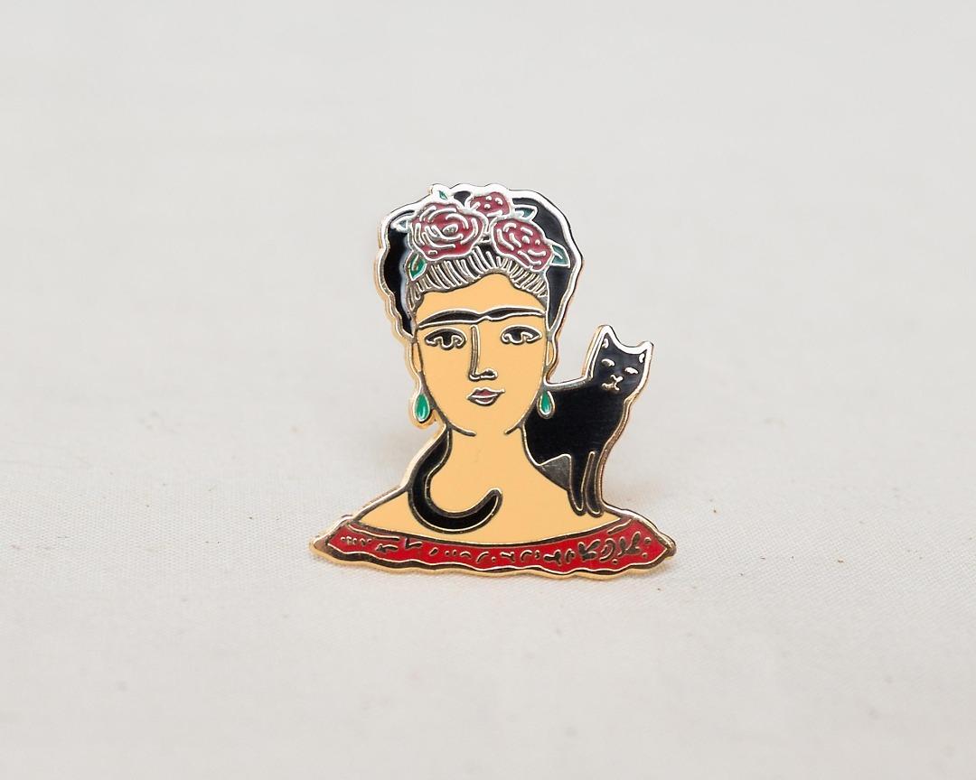 Frida Kahlo enamel pin lapel badge