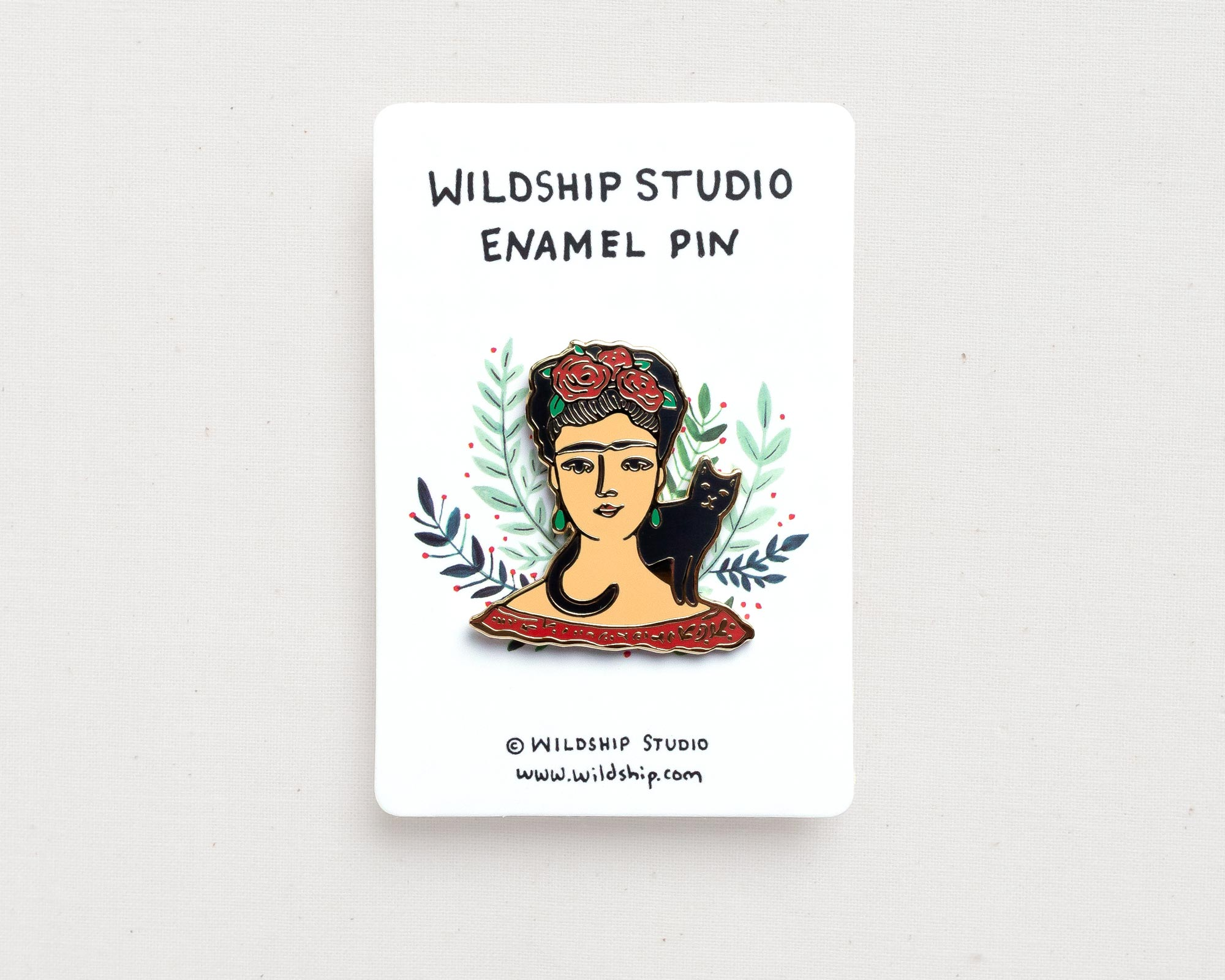 Frida Kahlo enamel pin lapel badge