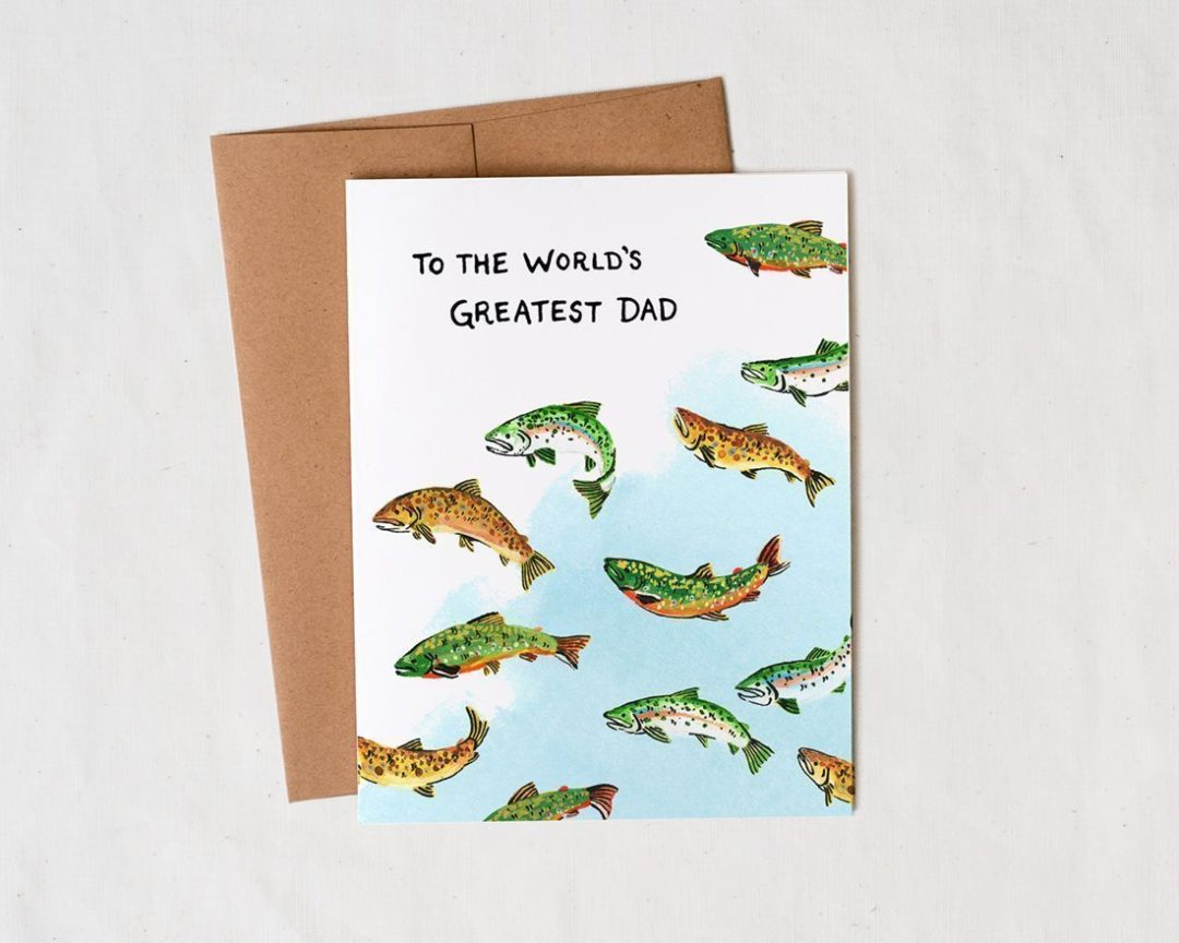 Worlds Greatest Dad Fathers Day card fisherman