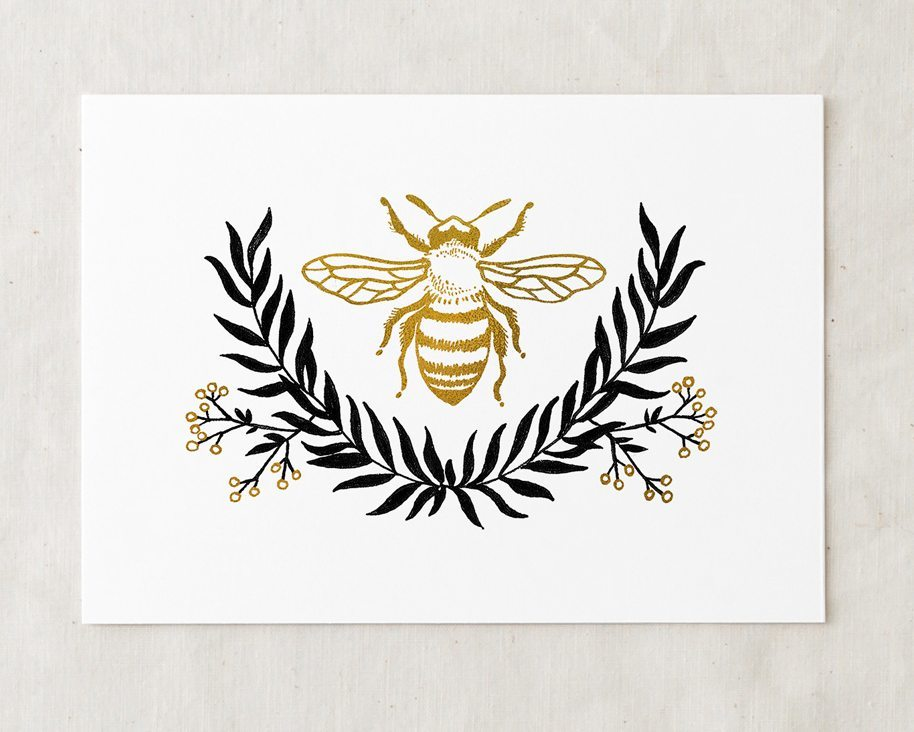 Popular Bee Art Print | Wildship Studio IX83