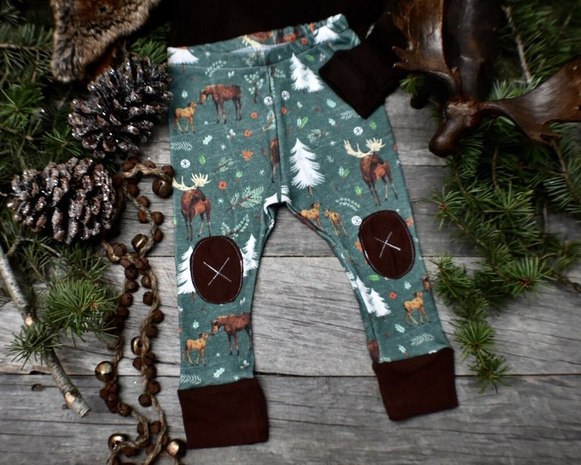 Alpine Moose Organic Baby Leggings