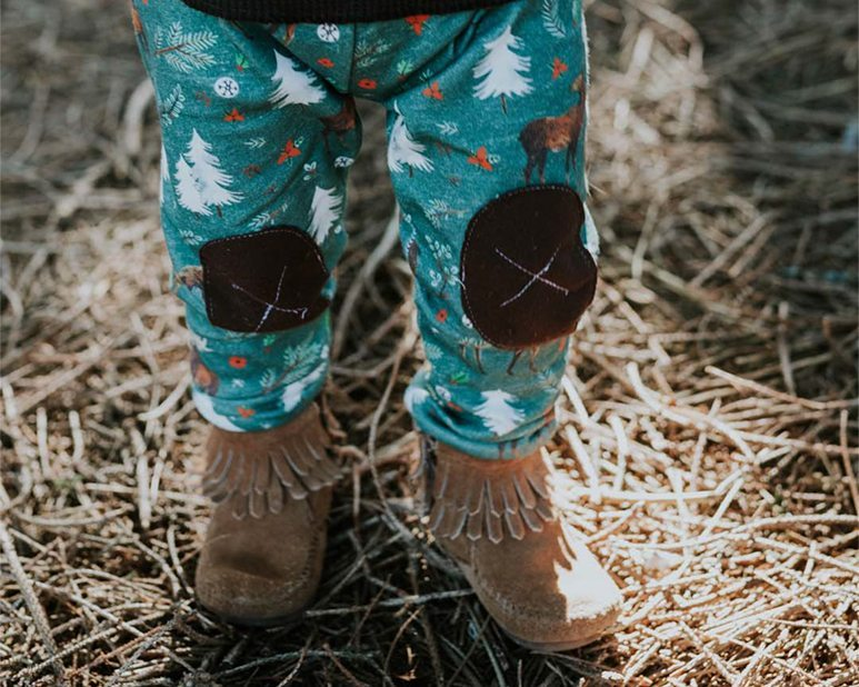 Alpine Moose Organic Baby Leggings