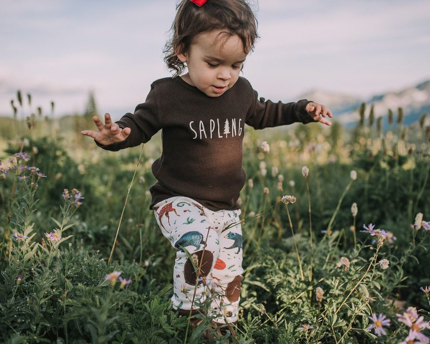 Woodland Soiree Organic Baby Leggings