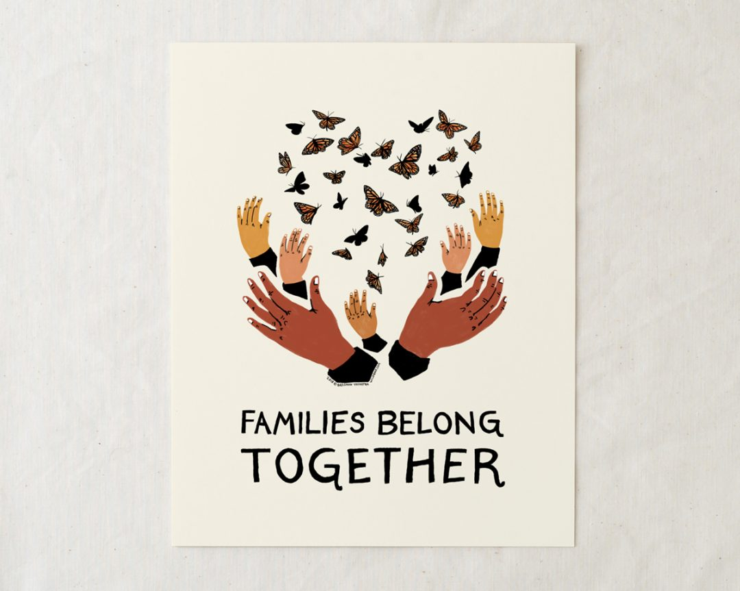 families belong together art print