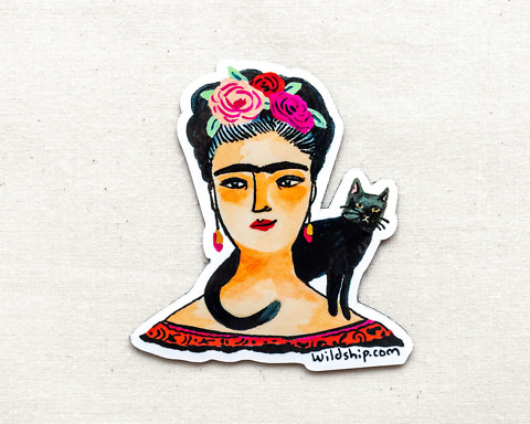 frida kahlo magnet by wildship studio