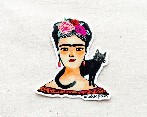 frida kahlo sticker by wildship studio