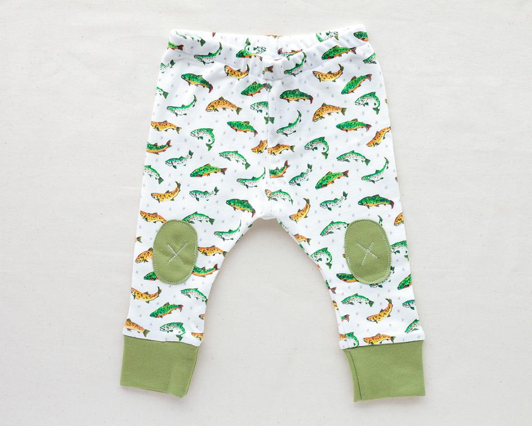 Trout Leggings Organic Baby Leggings Wildship Studio