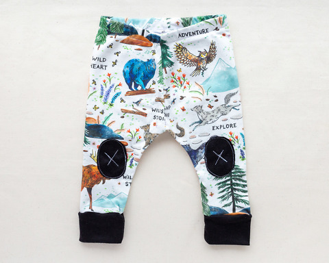 Wilderness Adventure Organic Baby Leggings by Wildship Studio